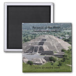 Pyramid of the Moon, Teotihuacan, Mexico Fridge Magnet