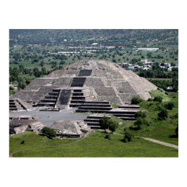 Aztec Themed Pyramid of the Moon, Teotihuacan, Mexico Postcard
