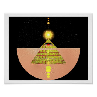 Pyramid of the Sun Godess by Kookie Poster
