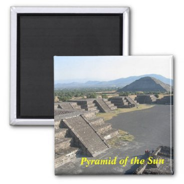 Aztec Themed Pyramid of the Sun magnet
