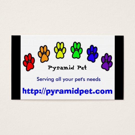 Pyramid Pet Business Card