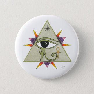 Pyramid power pinback button