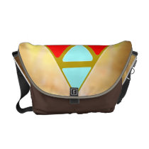 Pyramid Revisited Messenger Bag