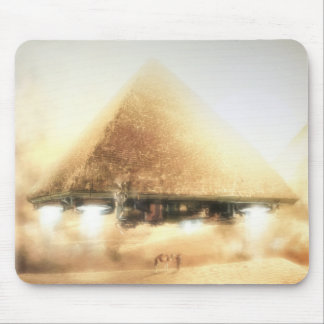 Pyramid Spaceship Mouse Pad