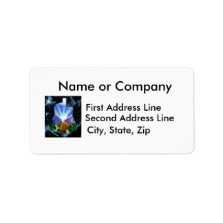 Pyramid Spray Painting with trees acoustic Personalized Address Labels