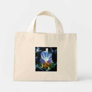Pyramid Spray Painting with trees acoustic Mini Tote Bag