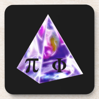Pyramid symbol Pi and the Golden Ration Beverage Coaster