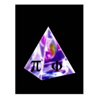 Pyramid symbol Pi and the Golden Ration Postcard