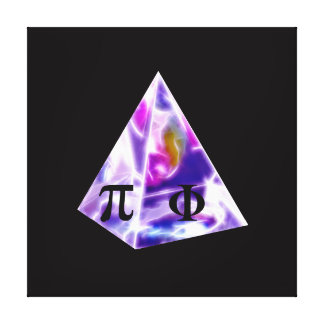 Pyramid the symbol Pi and the Golden Ratio Canvas Print