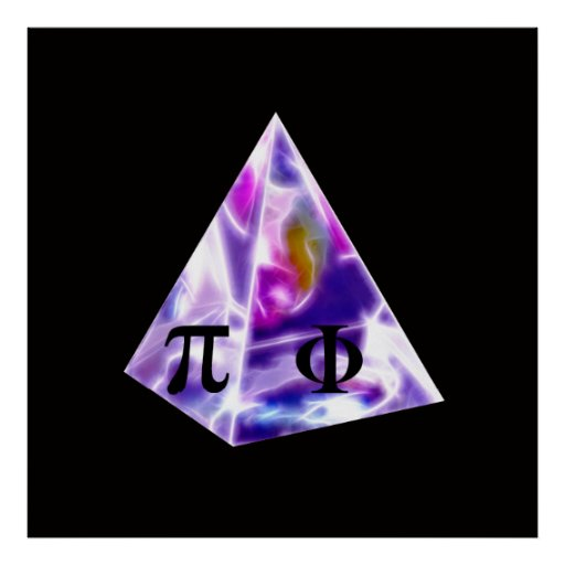 Pyramid the symbol Pi and the Golden Ratio Posters