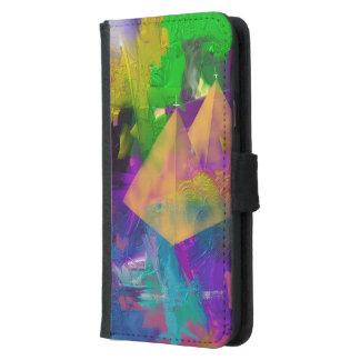 Pyramid Times Wallet Phone Case For Samsung Galaxy S5