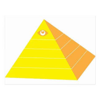 Pyramid with all seeing eye postcard