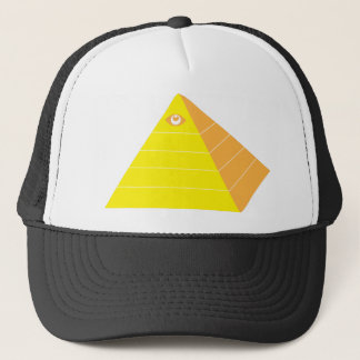 Pyramid with all seeing eye trucker hat