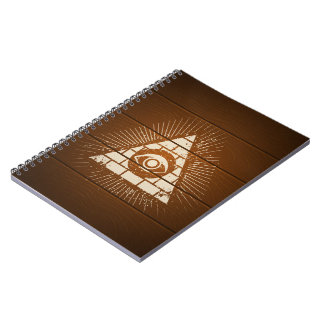 Pyramid with eye note books