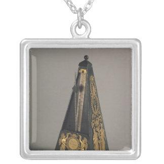 Pyramidal metronome, 1815 square pendant necklace