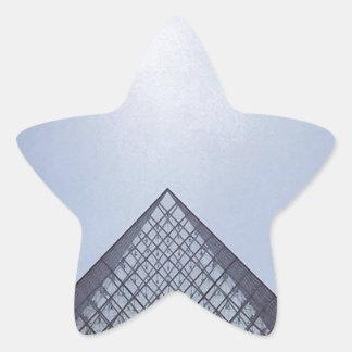 Pyramide Louvre Paris Star Sticker