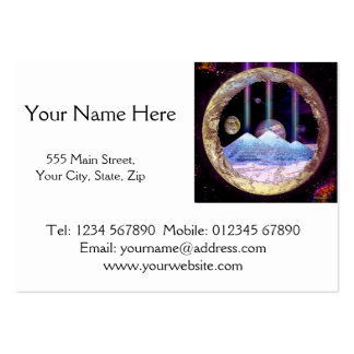 Pyramids and Planet Earth Artwork Large Business Cards (Pack Of 100)
