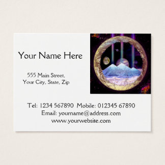 Pyramids and Planet Earth Artwork Business Card