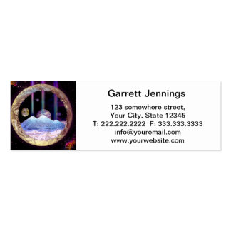 Pyramids and Planet Earth Artwork Double-Sided Mini Business Cards (Pack Of 20)