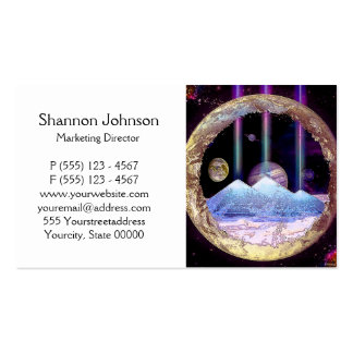 Pyramids and Planet Earth Artwork Double-Sided Standard Business Cards (Pack Of 100)