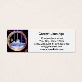 Pyramids and Planet Earth Artwork Mini Business Card