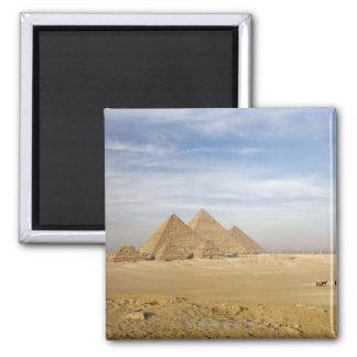 Pyramids Cairo, Egypt 2 Inch Square Magnet