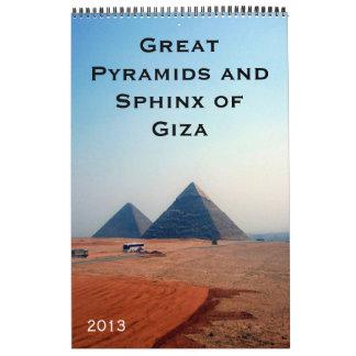 pyramids calendar 2013