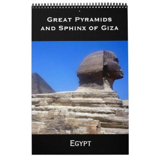 pyramids egypt 2018 calendar