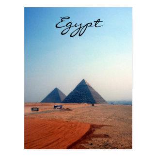 pyramids egypt postcard