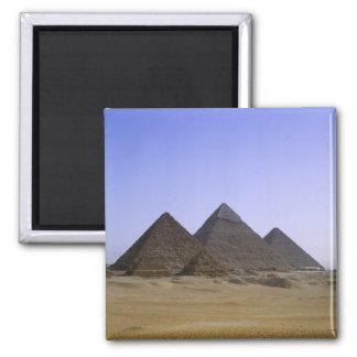 Pyramids in desert Cairo, Egypt Magnet