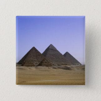 Pyramids in desert Cairo, Egypt Pinback Button