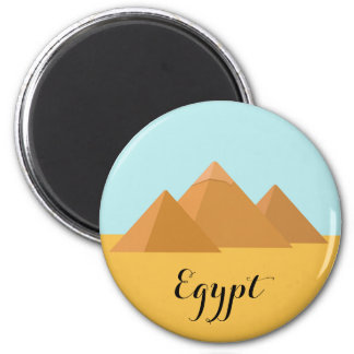 Pyramids in Egypt 2 Inch Round Magnet