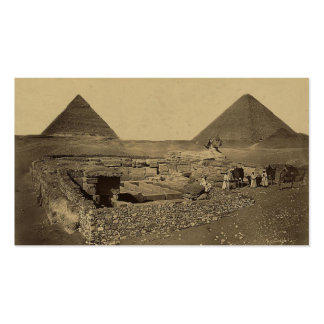 Pyramids of Cheops and Cheffreu, and Sphinx Business Cards