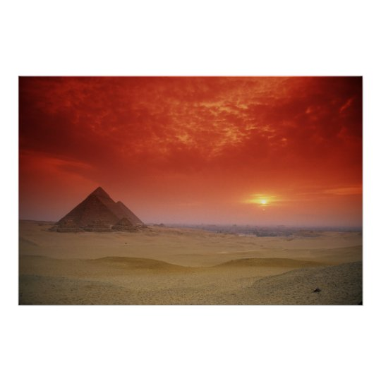 Pyramids of Egypt Through the Stargate Poster