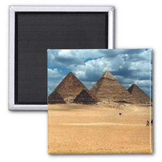 Pyramids of Gizeh 2 Inch Square Magnet
