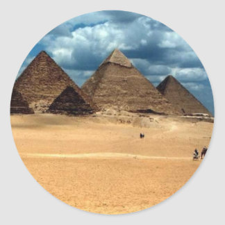 Pyramids of Gizeh Classic Round Sticker