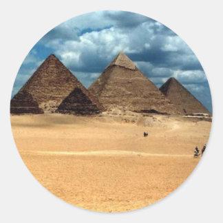Pyramids of Gizeh Classic Round Sticker