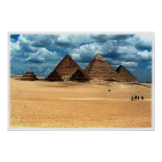 Pyramids of Gizeh Poster