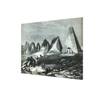 Pyramids of Meroe, on the Nile Canvas Print