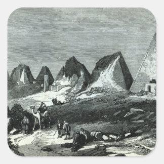 Pyramids of Meroe, on the Nile Square Sticker