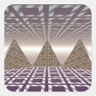 Pyramids Square Sticker
