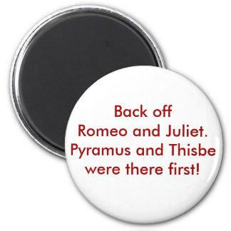 Pyramus and Thisbe 2 Inch Round Magnet