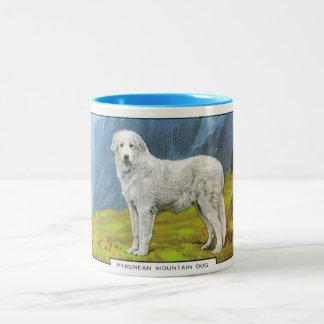 Pyranean Mountain Dog Two-Tone Coffee Mug