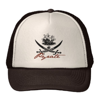 Pyrate Insignia with Ship Mesh Hats