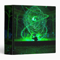 digital, magic, sorcery, green, fire, Fichário com design gráfico personalizado