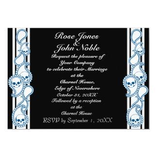 Pyre (Blue) Wedding Invitation