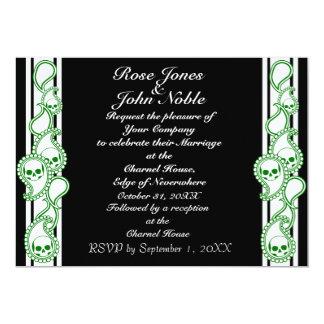 Pyre (Green) Wedding Invitation