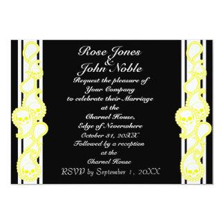 Pyre (Yellow) Wedding Invitation
