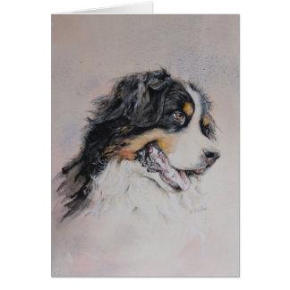 Pyrenean mountain dog painting card