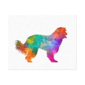 Pyrenean Sheepdog in watercolor Canvas Print